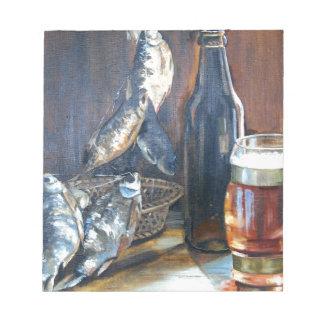 Beer and fish notepad