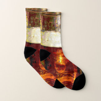 Beer and Foam Abstract Socks 1