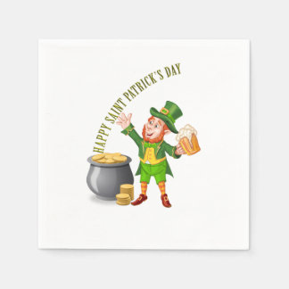 Beer and Gold for Saint Patrick's Day Disposable Napkin