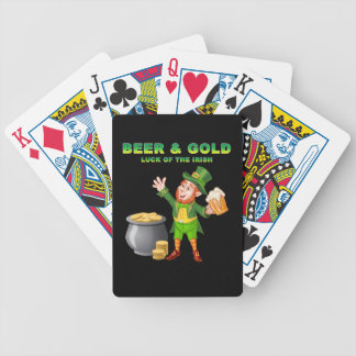 Beer and Gold For the Luck of the Irish Bicycle Playing Cards