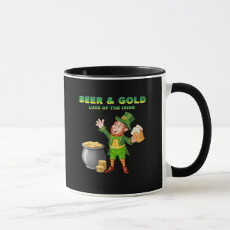 Beer and Gold For the Luck of the Irish Mug