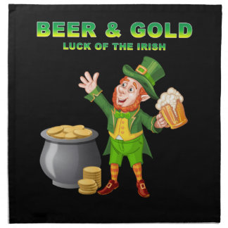 Beer and Gold For the Luck of the Irish Napkin