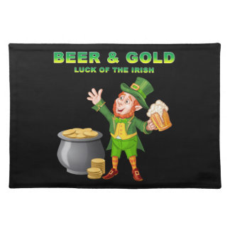 Beer and Gold For the Luck of the Irish Placemat