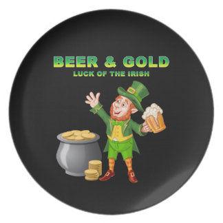 Beer and Gold For the Luck of the Irish Plate