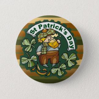 Beer and Irishman 2 Inch Round Button