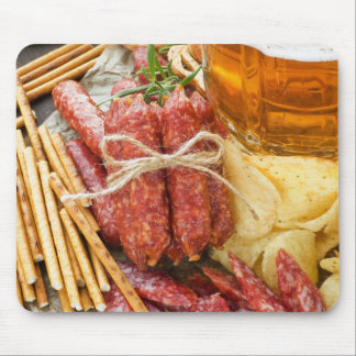 Beer And Snacks Mouse Pad