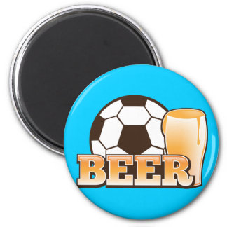 BEER and soccer football Magnet