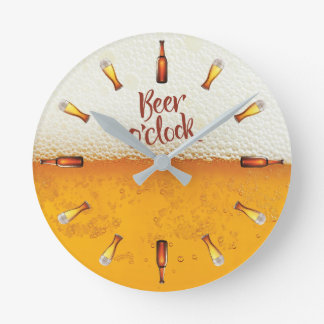 Beer background wall clock