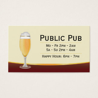 Beer Bar and Pub Business Card