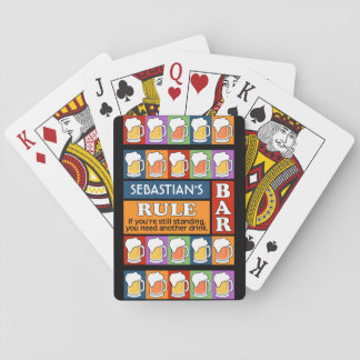 BEER Bar Pop Art custom monogram playing cards