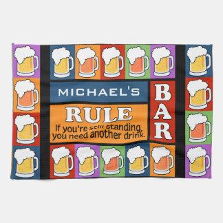 BEER Bar Pop Art CUSTOM NAME kitchen towel