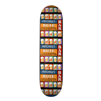 BEER Bar Pop Art CUSTOM NAME skateboards