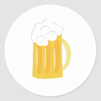 Beer Base Classic Round Sticker