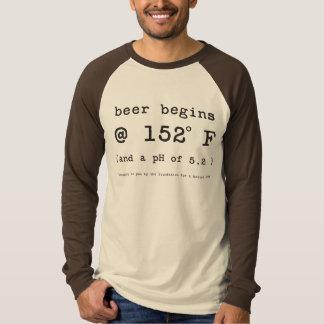 Beer Begins at 152 Degrees Fahrenheit T-Shirt