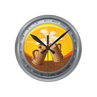 Beer Bier Bottle Cap Wall Clock
