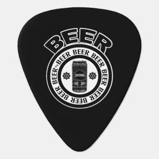 BEER - Black and White, Beer Can Guitar Pick