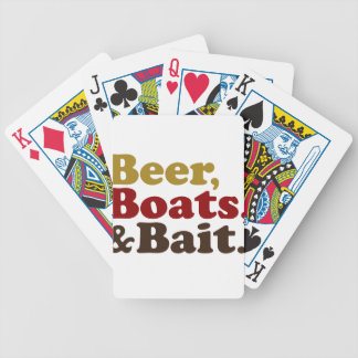 Beer Boats and Bait Fishing Bicycle Playing Cards