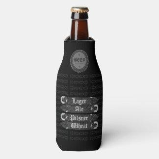 Beer Bottle Cap/Bottle Opener Grey/White 2 Bottle Cooler