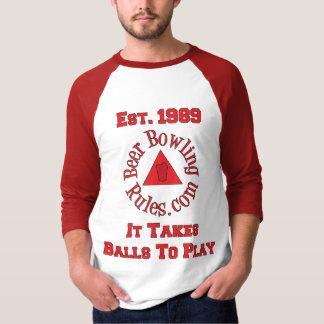 Beer Bowling Rules It Takes Balls Shirt