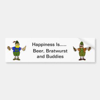 Beer, Bratwurst & Buddies Bumper Sticker