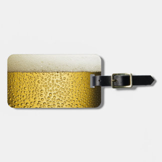 Beer Bubbles Ale Amber Drink Luggage Tag