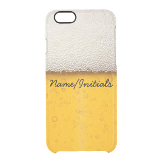 Beer Bubbles Close-Up Funny Drinking Name Clear iPhone 6/6S Case