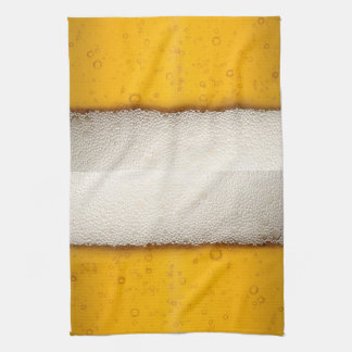 Beer Bubbles Close-Up Kitchen Towel