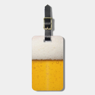 Beer Bubbles Close-Up Luggage Tag