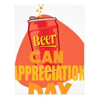 Beer Can Appreciation Day - Appreciation Day Letterhead