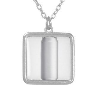 beer can silver plated necklace