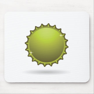 beer cap mouse pad