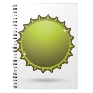 beer cap notebook