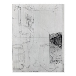 Beer Cellar equipment, 1825 Postcard