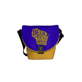 Beer Cheese & Good Company Zany Du Designs WI Courier Bags
