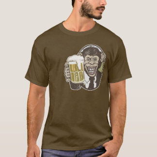 Beer Chimp by Mudge Studios T-Shirt