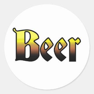 Beer Classic Round Sticker