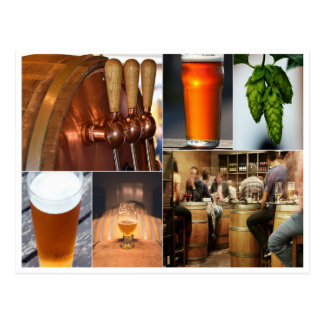 beer collage brewery pint ale brew stout postcard