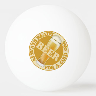 BEER custom name ping pong balls Ping-Pong Ball