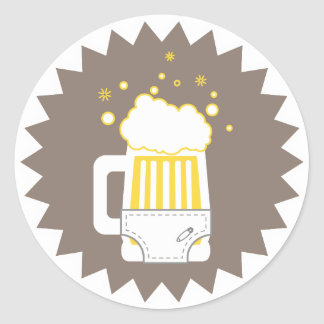 Beer & Diaper Party | Stickers