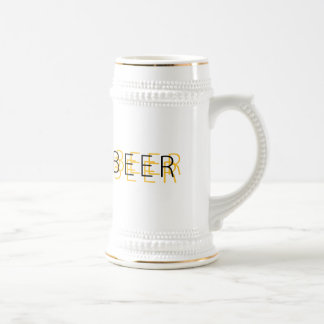 BEER Double Vision - Gold and Black Beer Stein