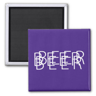 BEER Double Vision - Purple and Orange Magnet