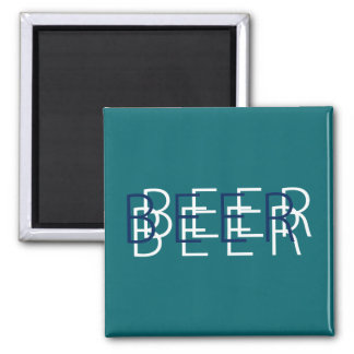 BEER Double Vision - Teal and Navy Blue Magnets