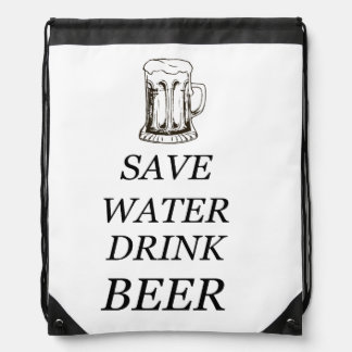 Beer Drink Food Drawstring Bag