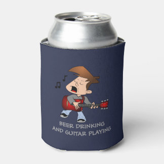 Beer Drinking and Guitar Playing Can Cooler