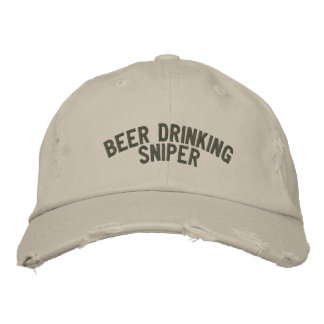Beer Drinking Sniper Embroidered Hats
