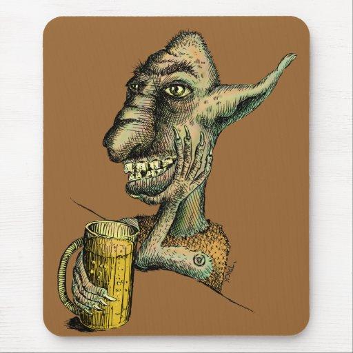 Beer Drinking Troll Mousepad