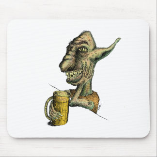 Beer Drinking Troll Mouse Pad