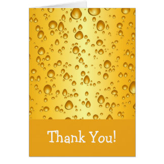 Beer Drops Thank You Card