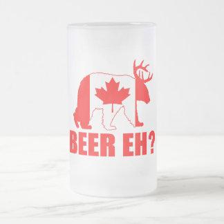 BEER EH?  Funny Canada Bear Deer Beer Mug