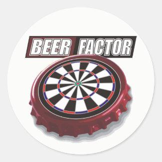 Beer Factor Darts Team Classic Round Sticker